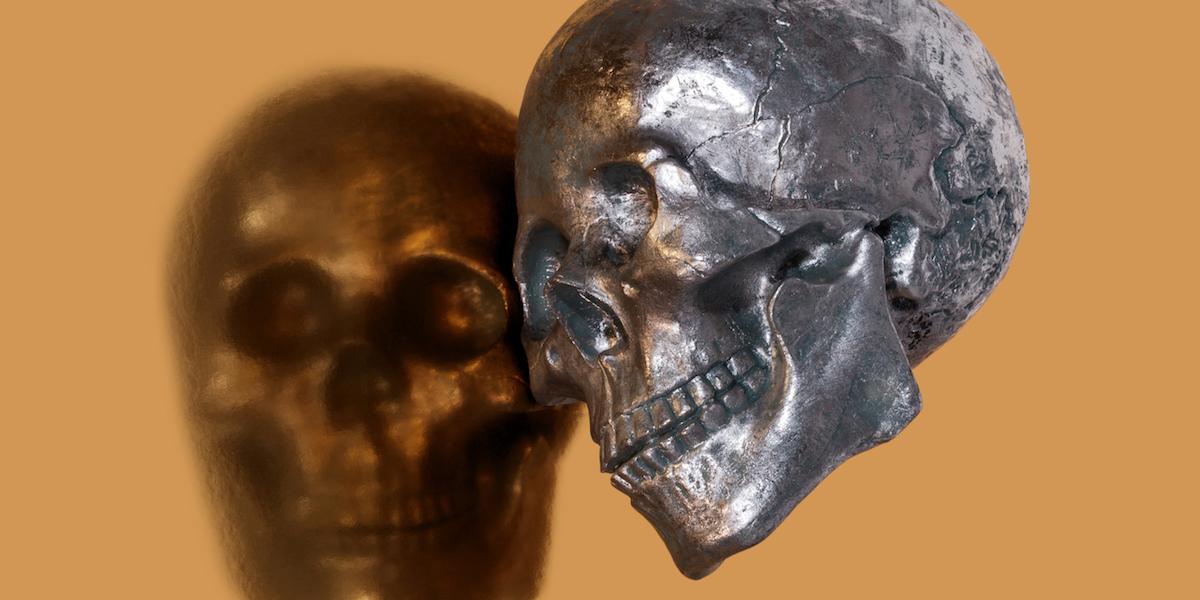 Skull Pattern On Gold